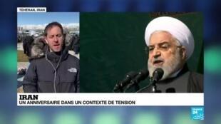 """2020-02-11 09:10 41e anniversaire de la révolution islamique en Iran : """"Des milliers d'Iranien"""