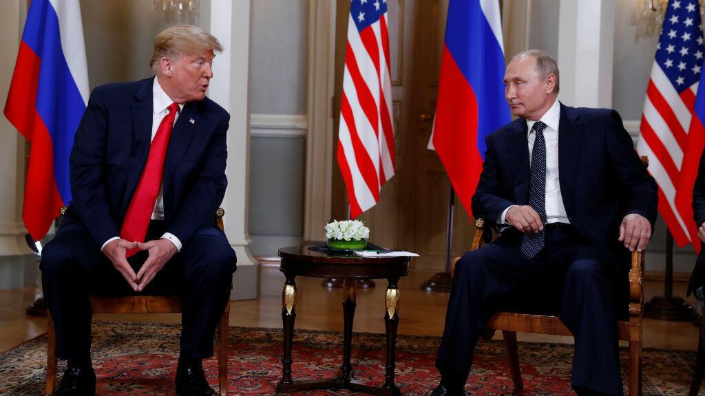 El presidente estadounidense, Donald Trump, junto a su homólogo ruso, Vladimir Putin, en Helsinki, Finlandia, el 16 de julio de 2018.