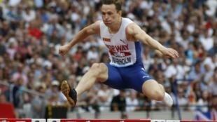 Le Norvégien Karsten Warholm pulvérise son prore record du 400 m haies en 47 sec 12 à Londres le 20 juillet 2019 en Ligue de Diamant