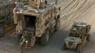 Des soldats américains dans la base militaire de Qayyara, en Irak, en2016(archives).