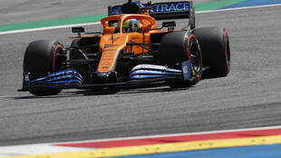 Five days after the joy of a thrilling podium finish, Lando Norris struggled with severe back pain Friday as he struggled through practice at the Styrian Grand Prix