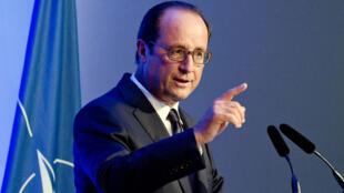 François Hollande au sommet de l'Otan, vendredi 5 septembre.