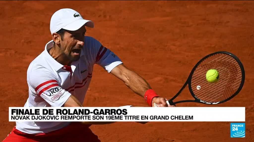 2021-06-13 21:14 Roland-Garros : Novak Djokovic renverse Tsitsipas pour remporter son 19e titre en Grand Chelem