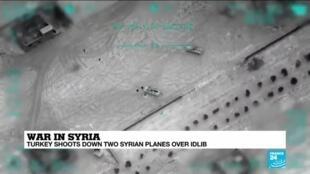 2020-03-02 10:09 War in Syria: Turkey shoots down two Syrian planes over Idlib