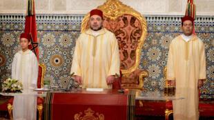 Le roi du Maroc, Mohammed VI, lors du 15e anniversaire de son couronnement en juillet 2014.