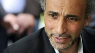 L'intellectuel Tariq Ramadan à la mosquée Er-Rahma de Nantes, en avril2010.