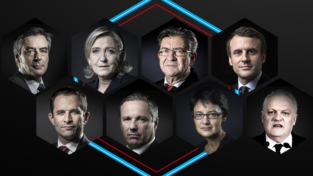 Who are the candidates in France's presidential race?