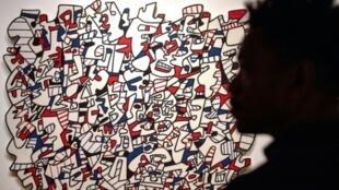 """""""Ontogenèse"""", une oeuvre de Dubuffet visible au Mucem à Marseille, photographiée le 23 avril 2019"""