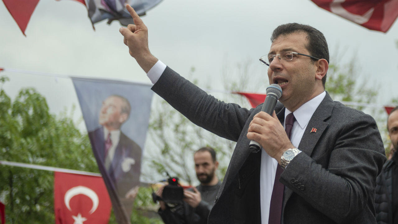 Ekrem Imamoglu le 15 avril 2019 à Istanbul.