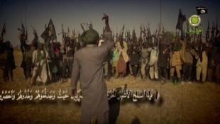 """Capture d'écran de la dernière vidéo de propagande de """"Boko Haram""""."""