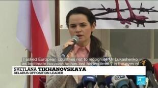 2020-09-21 11:06 Belarus crackdown: EU ministers welcome Belarus opposition leader