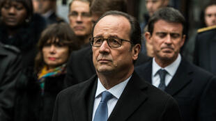 L'ancien président français François Hollande, lors des commémorations des attaques de Paris et Saint-Denis, le 13 novembre 2016.
