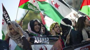 Une manifestation en faveur de l'indépendance du Sahara occidental, le 9 novembre 2013, à Madrid.