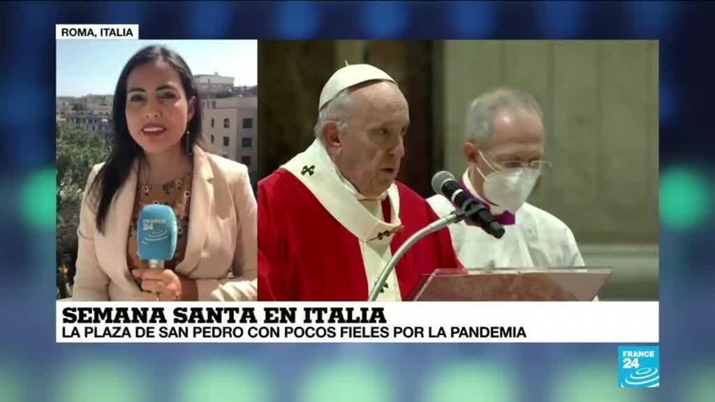 2021-04-01 14:35 Informe desde Roma: pocos fieles en la Plaza de San Pedro durante Semana Santa por la pandemia