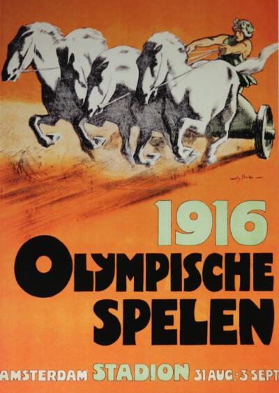 L'affiche des Jeux olympiques de Berlin en 1916