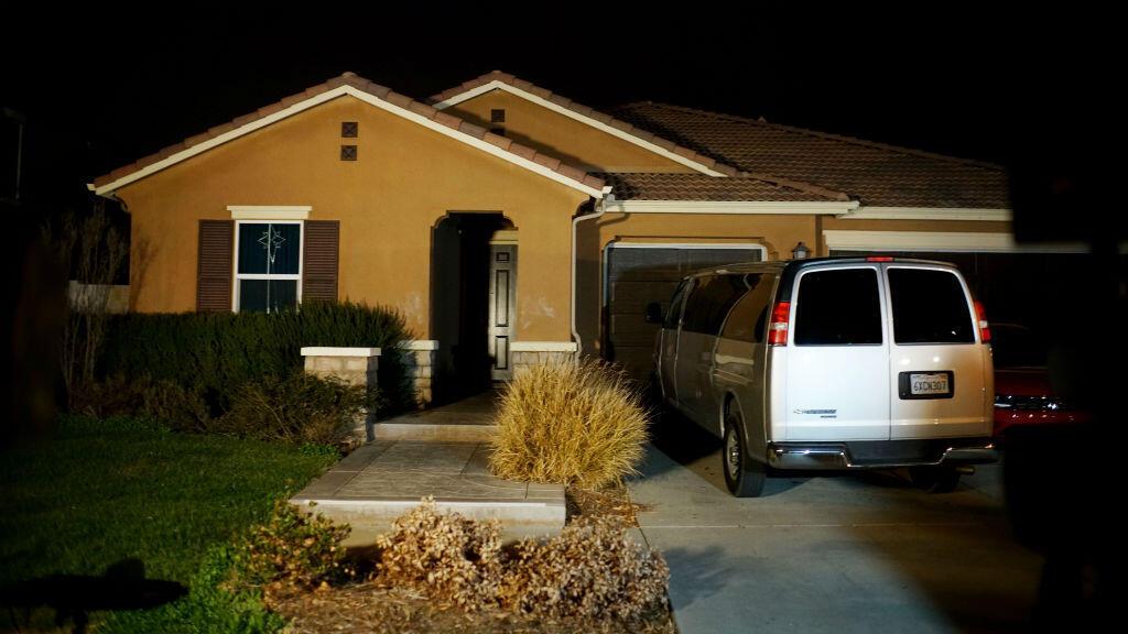 Una vista de la casa en la que Louise y David Turpin maltrataban a sus 13 hijos en California, Estados Unidos, el 15 de enero de 2018, luego de que la pareja fuera detenida por las autoridades.