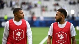Kylian Mbappe and Neymar were named in the starting line-up to face Saint-Etienne in the French Cup final