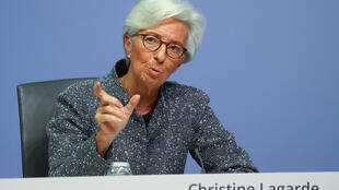 European Central Bank President Christine Lagarde gestures during a news conference on the outcome of the meeting of the Governing Council, in Frankfurt, Germany on March 12, 2020.