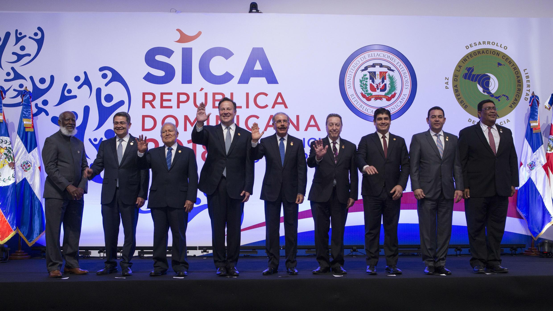 Presidentes del Sica reunidos en en Santo Domingo, República Dominicana, el sábado 30 de junio de 2018.