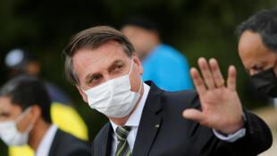 Le président brésilien Jair Bolsonaro à Brasilia le 7 mai 2020.