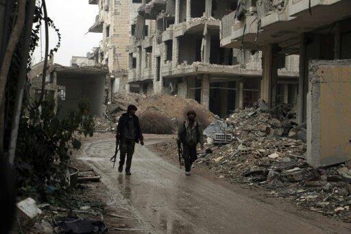 مقاتلون إسلاميون في ضواحي دمشق