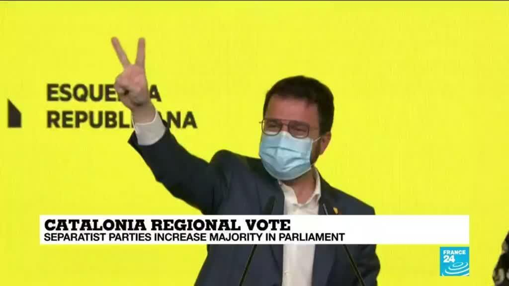 2021-02-15 09:39 Regional Catalan vote confirms separatists' power
