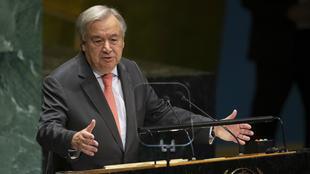 أنطونيو غوتيريش  الأمين العام للأمم المتحدة