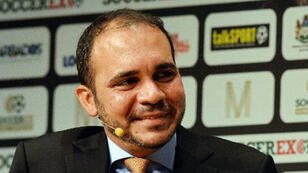 FIFA vice-president Prince Ali Bin al-Hussein speaks during the Soccerex Global Convention 2014 in Manchester, England