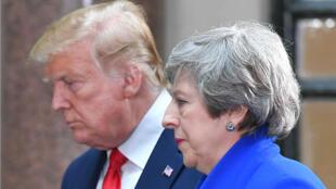 Le président américain Donald Trump et la Première ministre Theresa May lors d'une conférence de presse à Londres, le 4 juin 2019.