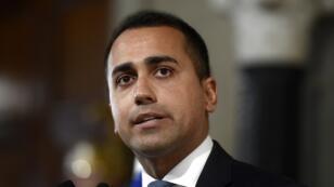 Le chef du Mouvement 5 Étoiles, Luigi Di Maio, s'adressant aux médias à la suite d'une réunion avec le président italien, le 28 août 2019.