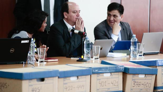 El fiscal Carlos Baca en la audiencia prepatatoria de juicio