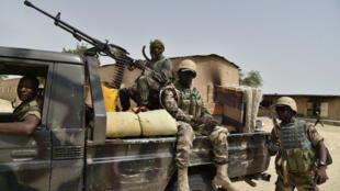 Des soldats nigériens au camp militaire de Bossi, en juin 2016.