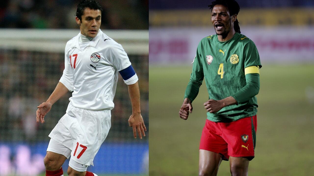 المصري أحمد حسن والكاميروني ريغوبرت سونغ، اللاعبان الأكثر مشاركة في بطولة كأس الأمم الأفريقية (8 مشاركات)