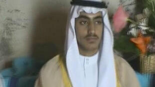 Archivo: captura de pantalla tomada de un video de la agencia Reuters muestra a Hamza Bin Laden.
