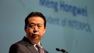 El presidente de Interpol, el chino Meng Hongwei, el 4 de julio de 2017 en Singapur