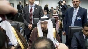وزير الطاقة السعودي خالد الفالح في فيينا في 30 تشرين الثاني/ نوفمبر 2016