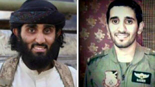 """- الطيار السعودي ناصر الحارثي وشقيقه زاهر الانتحاري في تنظيم """"الدولة الإسلامية"""""""