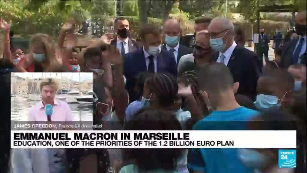 2021-09-02 13:36 Marseille's education system in spotlight as Macron visits