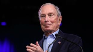 L'ancien maire de New York, Michael Bloomberg, lors d'un rassemblement au Palm Beach County Convention Center à West Palm Beach, en Floride, le 3 mars 2020.
