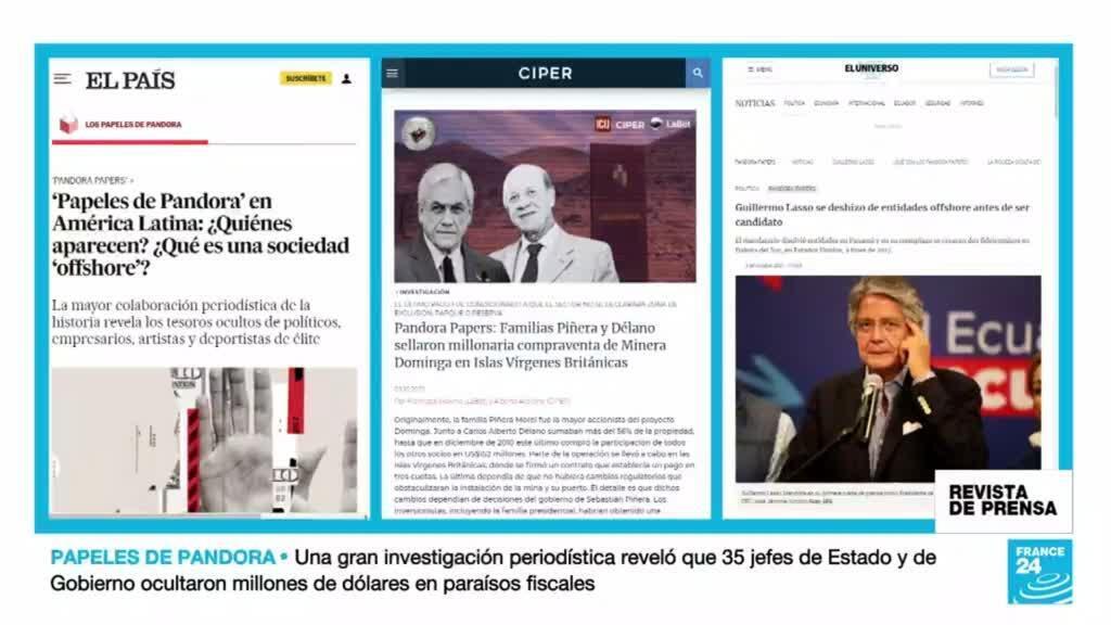 Informaciones de El País, CIPER y el Universo sobre los 'Pandora Papers'