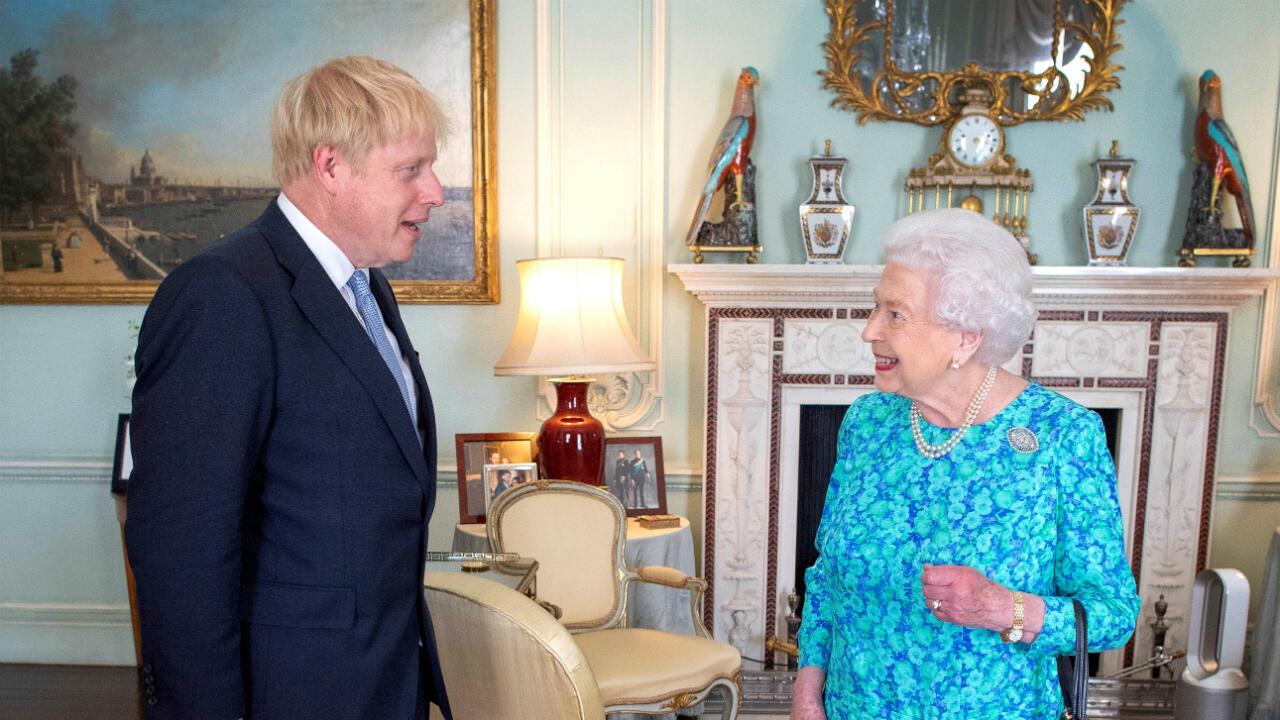 La reina Isabel II reconoce a Boris Johnson como primer ministro del Reino Unido tras las elecciones británicas el pasado 24 de julio de 2019