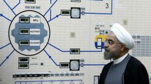 El presidente de Irán, Hassan Rohani, durante una visita una planta de energía nuclear en Bushehr en enero de 2015.