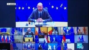 2021-02-25 16:08 Covid-19 en Europe : sommet européen pour un front commun face aux variants
