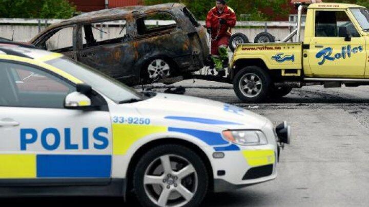 سيارة تابعة للشرطة السويدية قرب ستوكهولم في 2013