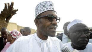 Le nouveau président élu du Nigeria, Muhammadu Buhari, avant les élections, le 28 mars 2015
