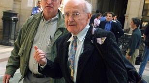 Robert Faurisson, photographié en2000 au Palais de justice de Paris (archives).