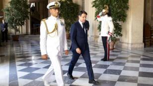 El primer ministro designado de Italia, Giuseppe Conte, llega al palacio presidencial del Quirinale de Roma el 4 de septiembre de 2019.