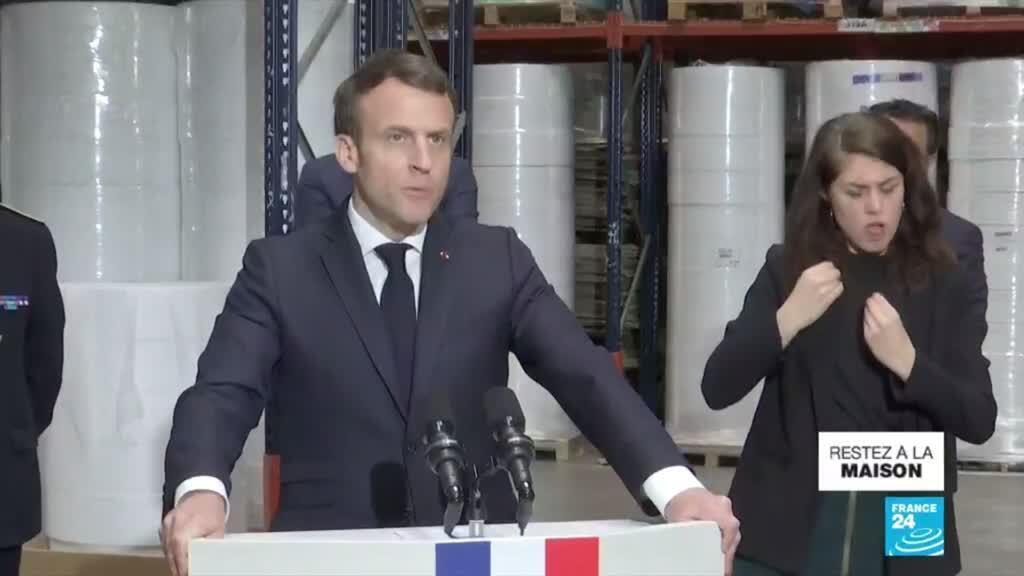 2020-03-31 14:00 Coronavirus : Emmanuel Macron veut rebâtir l'indépendance de la France sur les produits de première nécessité