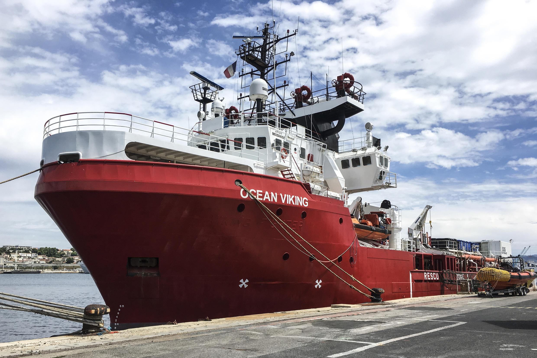 سفينة أوشن فايكينغ في مرسيليا في 18 يونيو/حزيران 2020