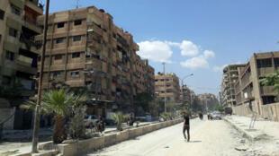 Image de Douma transmise par l'agence de presse officielle syrienne SANA le 14 avril 2018.